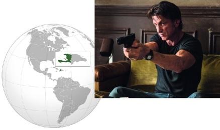 Haiti and Sean Penn promo pic for The Gunman (http://bit.ly/1BaM8oC) Thanks for Egypt, Sean, I think. Not so much Haiti.