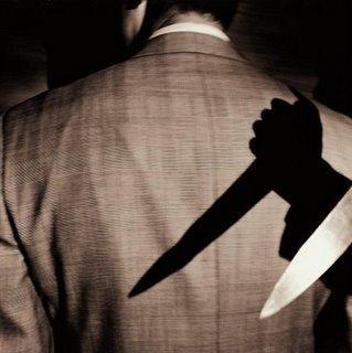 Knife in back