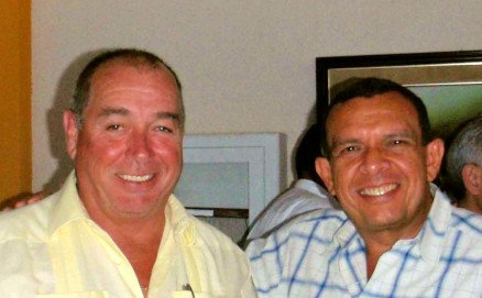 Here's pornographer Randy Jorgensen and coup government leader Porfirio (Pepe) Lobo Sosa. Randy is part of the 99% - of pornographers making bad porn, I'm sure.