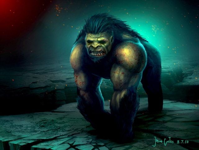 mutant gorilla beast by Jason Coates 3-7-13