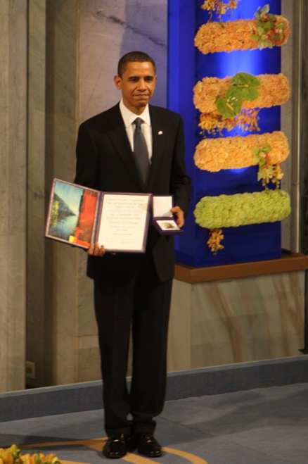 Obama wins 2009 Nobel Peace Prize - image from Wikipedia