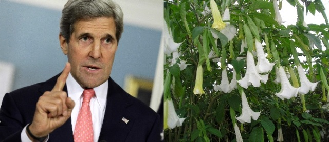 John Kerry will protect us from terrorists, demons and Devil's Breath. Not!