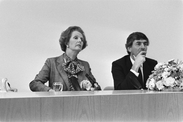Margaret Thatcher with Ruud Lubbers in Sept of 1983