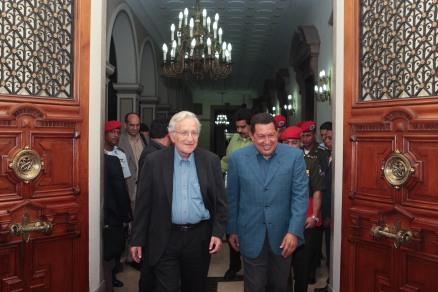 Noam Chomsky with Hugo Chavez