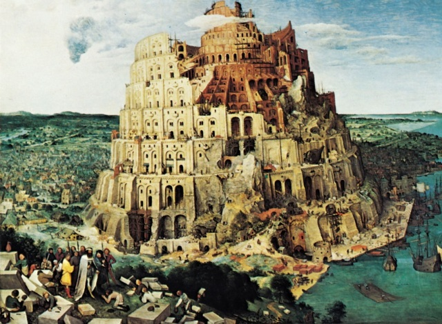 Tower Of Babel - painting by Pieter Brueghel the Elder