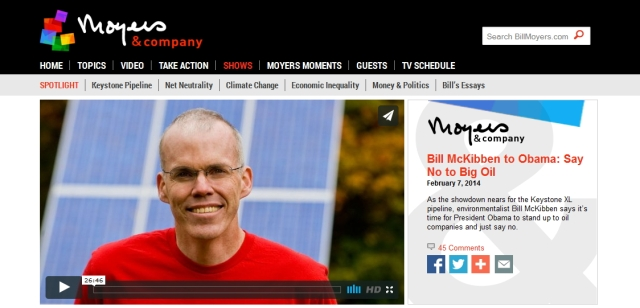 Bill Moyers interviews Bill McKibben