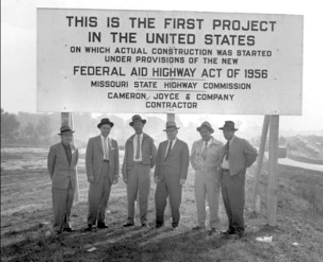 Ike's interstate highway project /  1956 was the year I was born