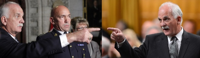 left photo by Blair Gable w Reuters / right photo by Sean Kilpatrick w Canadian Press