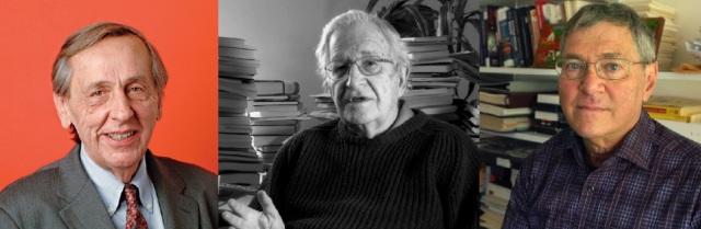 William Greider (http://bit.ly/1zX53T1) + Noam Chomsky (http://bit.ly/1oGPBWP) + Michael Klare (http://bit.ly/1kKIrBT)