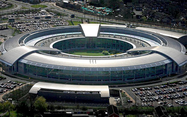 the very busy, but useless (from God's standpoint) GCHQ, which is Britain's spy agency
