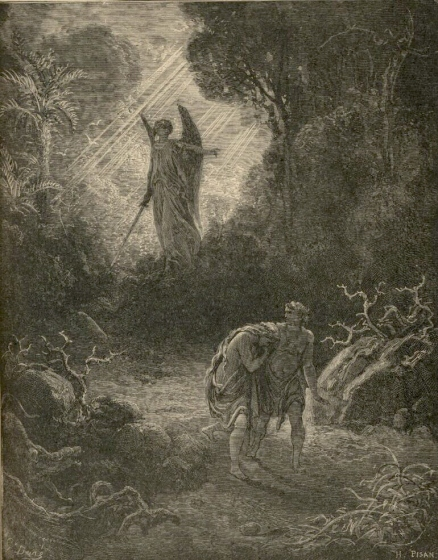 Expulsion from the Garden of Eden by Gustave Doré