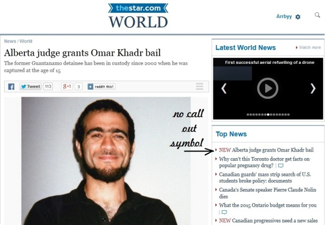 Omar Khadr granted bail Toronto Star April 24 2015 no comments allowed