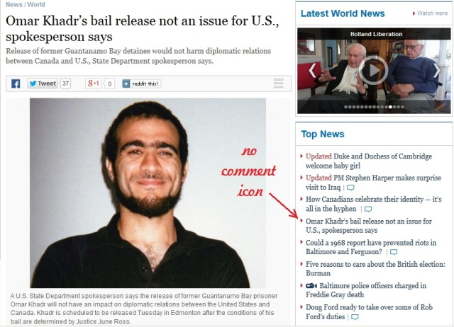 Omar Khadrs bail release not an issue for US spokesperson says Tor Star May 2 2015