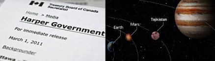 Harper Gov and planet Tajikistan