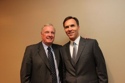 Paul Martin and Bill Morneau - photo by Kmathewm (own)