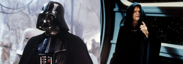 Darth Vader (http://bit.ly/1NMJvwg) and Emperor Palpatine (http://bit.ly/1PugAmh)