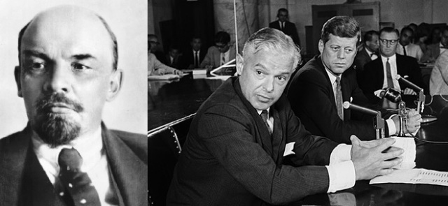 Peas In A Pod. Vladimir Lenin (http://bit.ly/1STVrnX) and Paul Nitze (http://bit.ly/1VDmW2V)