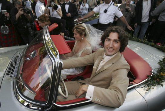 Trudeau gets married - photo by Bernard Weil