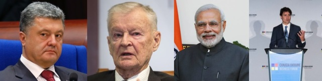 Petro Poroshenko (http://bit.ly/29lz1gS) Zbigniew Brzezinski (http://bit.ly/29AKMMt)  Narendra Modi (http://bit.ly/29ghCE7) Justin Trudeau (http://on.thestar.com/29anRHc)