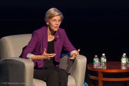 Senator Elizabeth Warren. Photo by Pat Westwater-Jong
