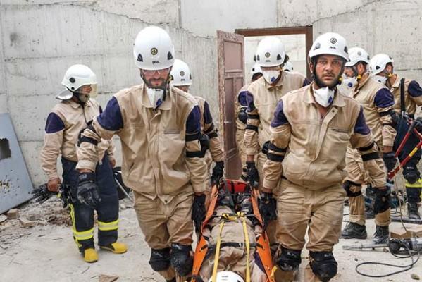 Syria's White Helmets Not So Pure (Screen Grab - Karam Foundation)