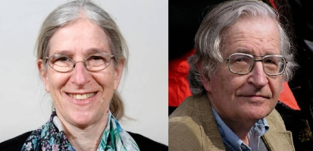 Aviva Chomsky (http://bit.ly/2k8xsUP)  and Noam Chomsky (photo by Wikipedia Commons)
