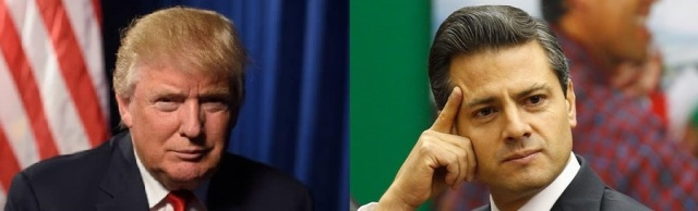 Donald Trump (photo by Jack Gruber) and Enrique Peña Nieto (photo by Reuters)