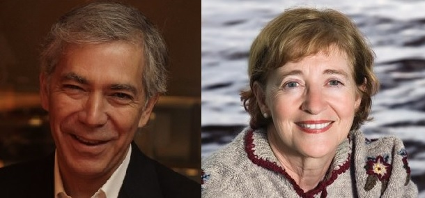 John R. MacArthur (photo by Marie-Sandrine Auger) and Maude Barlow (http://bit.ly/2kiN8qp)