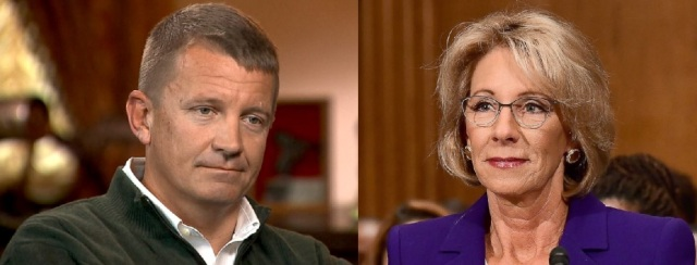 Erik Prince and sister Betsy DeVos (both photos are from ABC News)